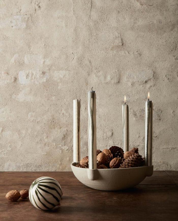 Ferm Living Bowl candle holder caramic 1104263131 3