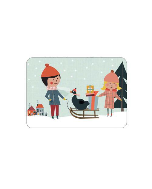 Life is Delicious xmas karte postkarte gans freunde