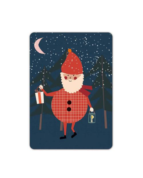 Life is Delicious xmas karte postkarte nikolaus