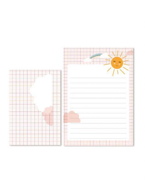 Life is delicous briefpapier set sonne