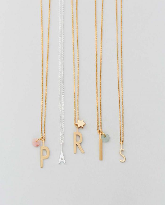 Design Letters Charm opal rose 90201500PINK 03
