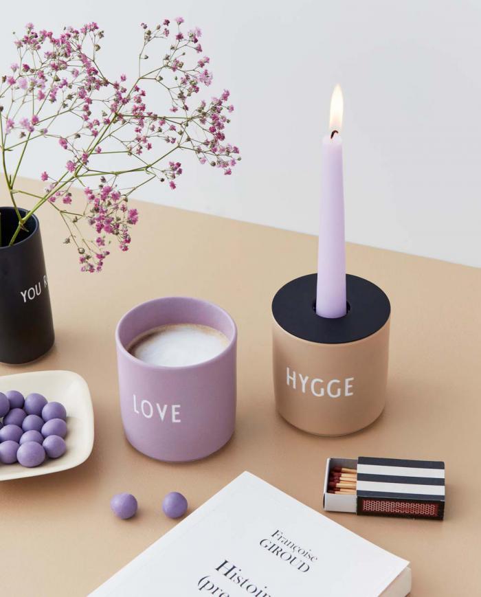 Design Letters Favourite Cup Love lavender Hygge beige