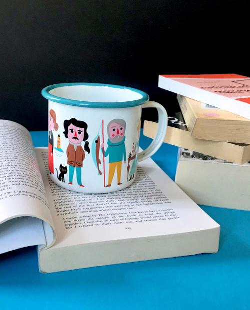 OMM Design Emaille Tasse Book Lover 02