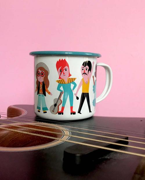 OMM Design Emaille Tasse Music Lover 02