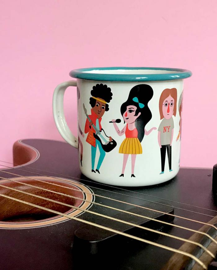 OMM Design Emaille Tasse Music Lover 03