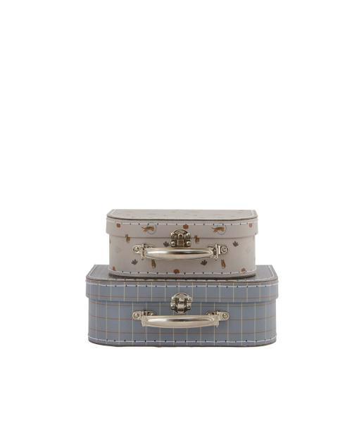 OYOY Suitcase Set grau blau 01