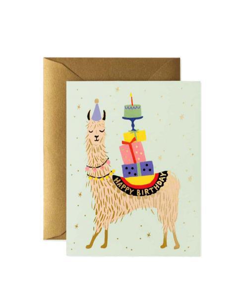 Rifle Paper karte lama birthday