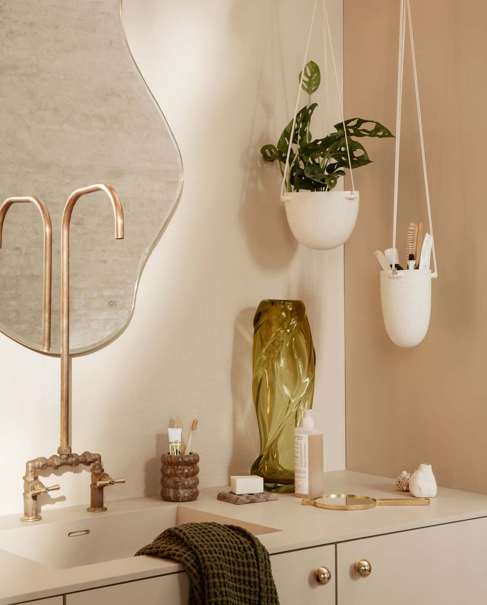 ferm living speckle hanging pots small large