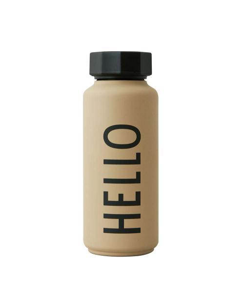 Design Letters Thermosflasche beige 30100105BEIGEHELLO 01