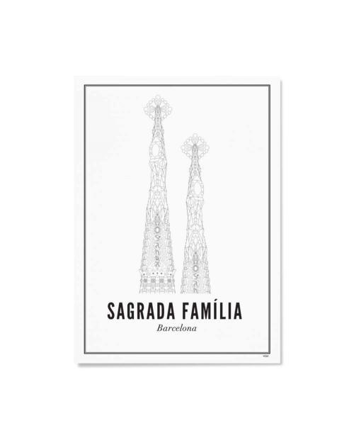 Wijck artprint Barcelona sagrada familia