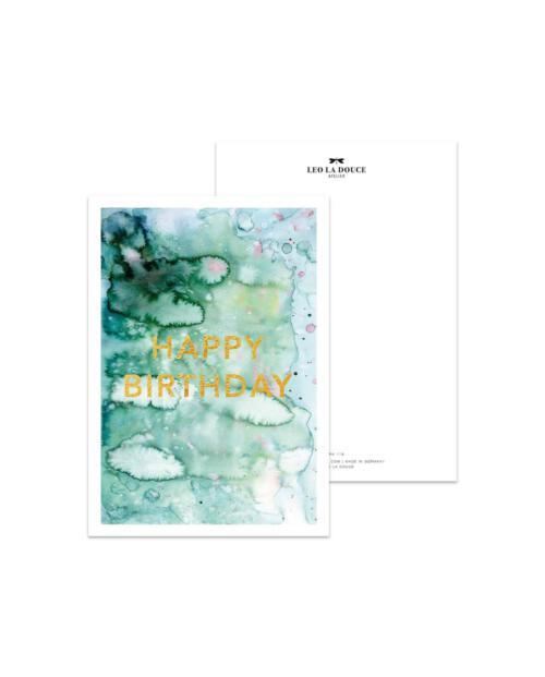 Leo La Douce PK 053 Happy Birthday goldfoil