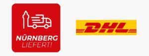 logos Lieferdienste DHL Nürnberg liefert