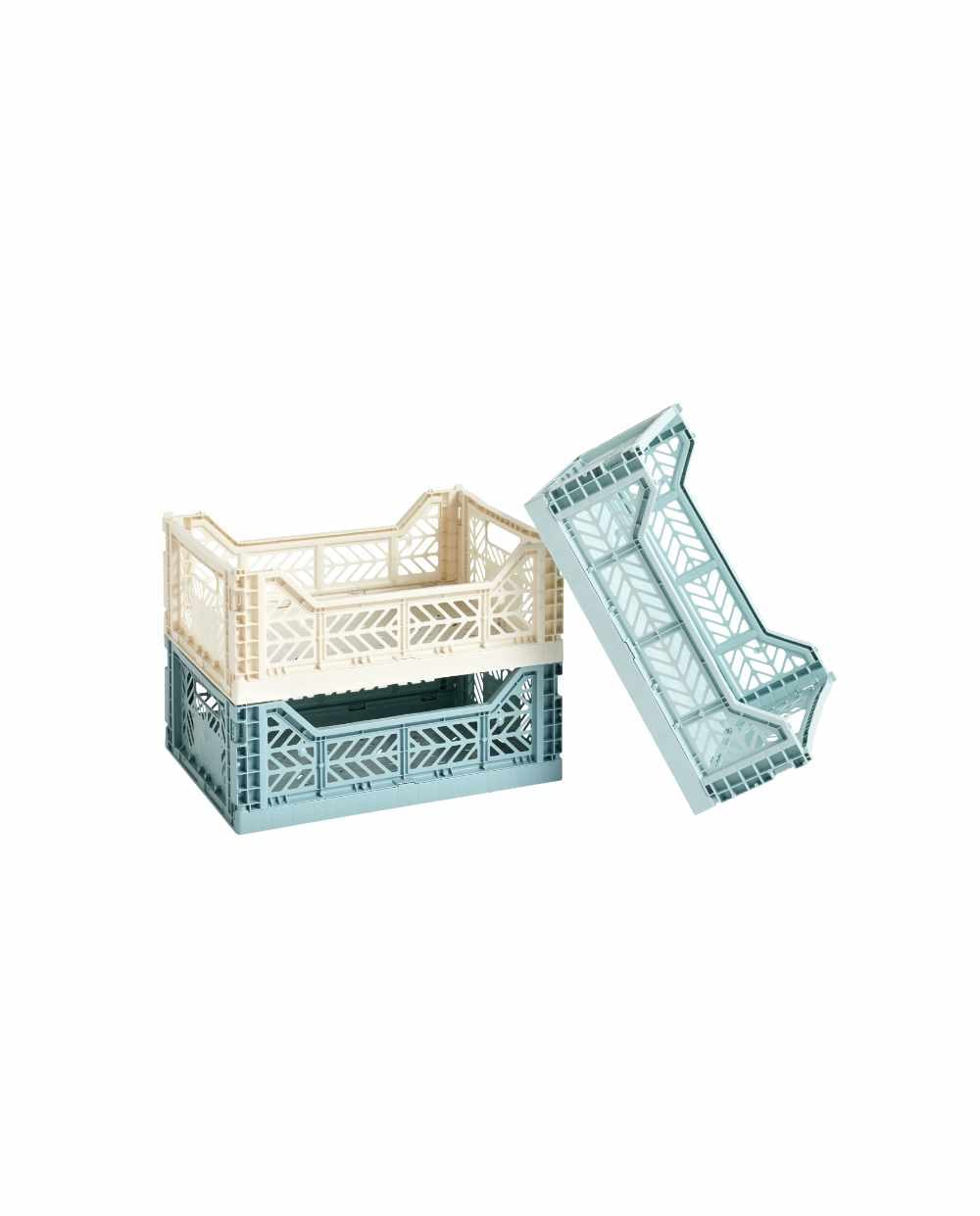 HAY Colour Crate Ma arctic teal offwhite