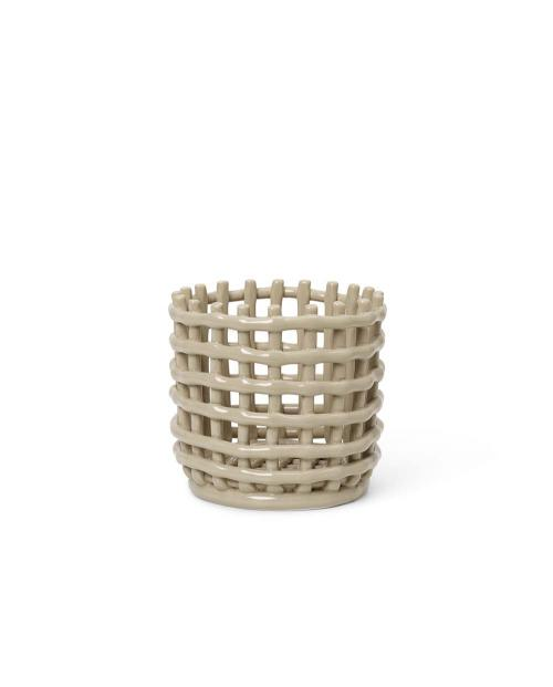 ferm Living Ceramic Basket Small Cashmere 01