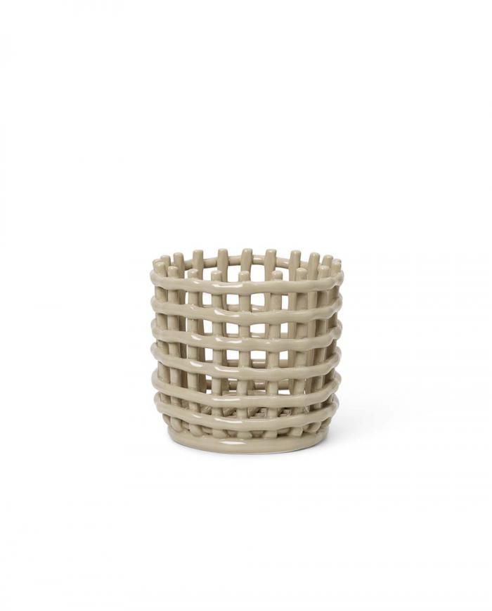 ferm Living Ceramic Basket Small Cashmere 01