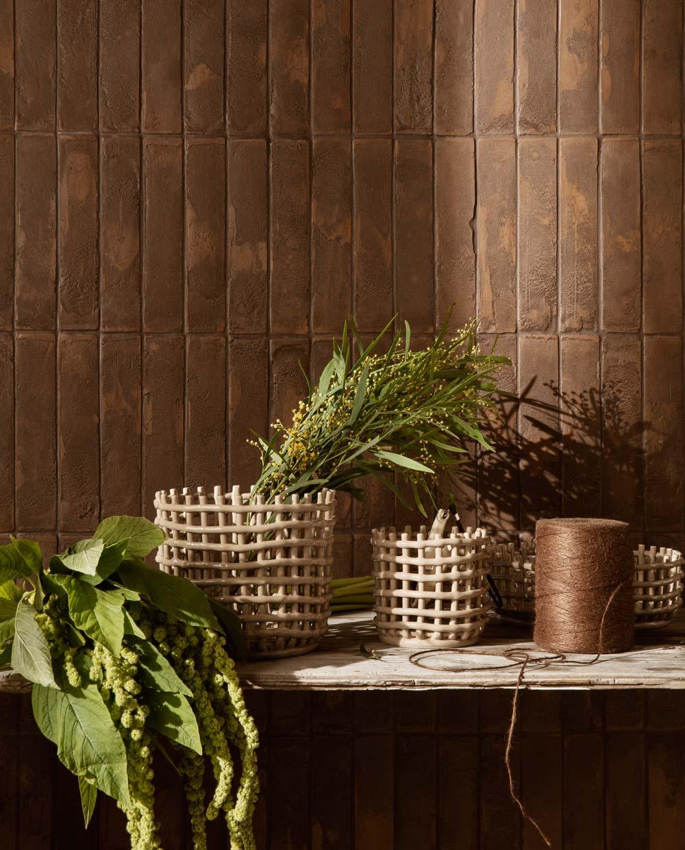 ferm Living Ceramic Basket Small Cashmere 02