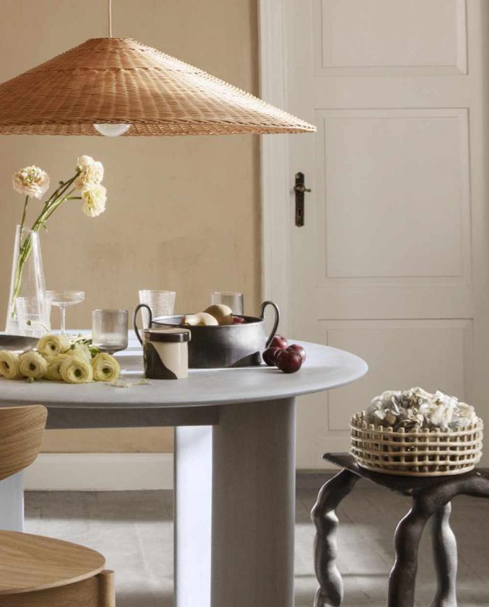 ferm Living Brus Inlay ceramic Basket
