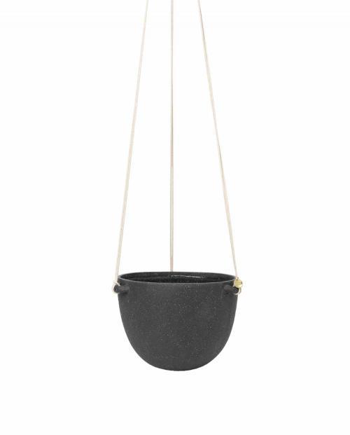 ferm Living Speckle Hanging Pot large DarkGrey 01