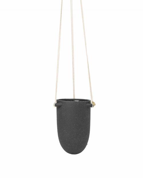 ferm Living Speckle Hanging Pot small DarkGrey 01