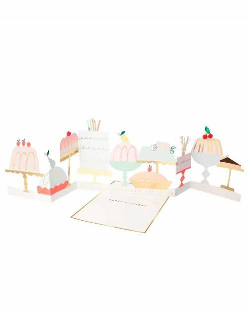 Meri Meri Karte 3d Kuchen party 01