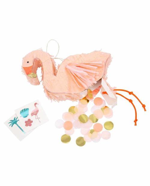 Meri meri 187720 mini pinata flamingo 01
