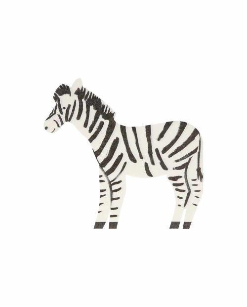 Meri meri papierservietten zebra 01